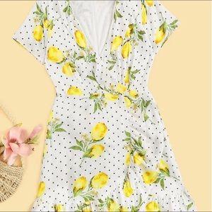 SHEIN - dot & lemon dress
